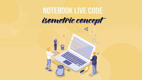 Notebook - Isometric Concept After Effects Template
