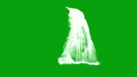 Waterfalls motion graphics with green screen background Videos animados