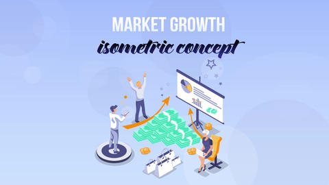 Market Growth - Isometric Concept After Effects Template