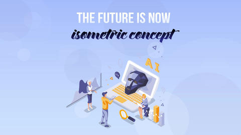 The future is now - Isometric Concept After Effects Template