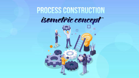 Process Construction - Isometric Concept After Effects Template