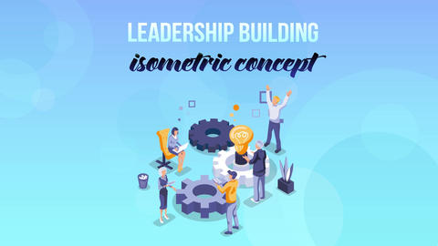 Leadership Building - Isometric Concept After Effects Template