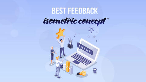 Best Feedback - Isometric Concept After Effects Template