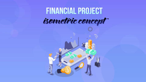 Financial Project - Isometric Concept After Effects Template