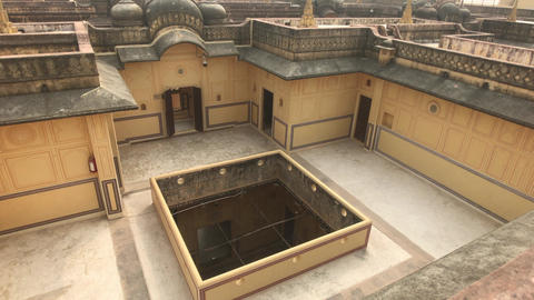 Jaipur, India - engineering structure of the old fortress Live Action