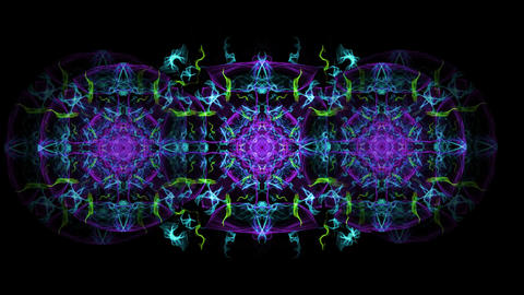 Magic antistress patterns in tunnel motion, color changing ornament for Animation