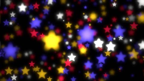 Colorful Bokeh Stars Animation