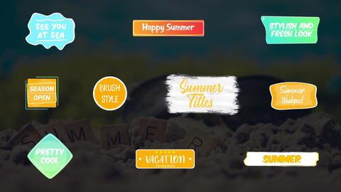 Colorful Summer Titles Motion Graphics Template