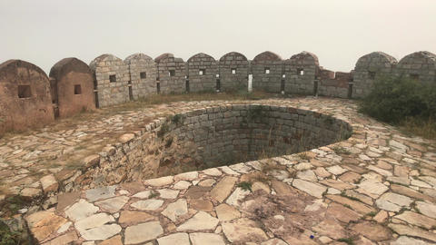 Jaipur, India - defensive structures on a high mountain part 16 Live Action