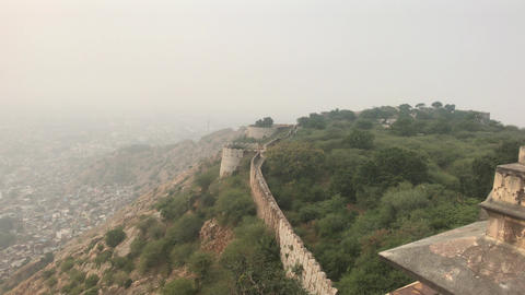 Jaipur, India - View from above the old historic fortress part 19 Live Action