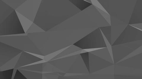 Motion dark black low poly abstract background Animation