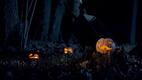 Mystical lights themselves ignite in Halloween pumpkins Live Action