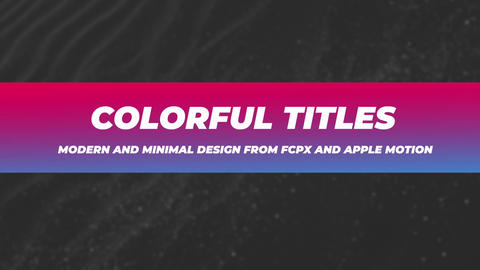 Coorful Titles Apple Motion Template