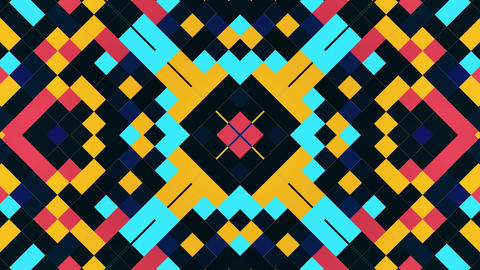 High Contrast Color Blocking Pattern Moving In A Seamless Loop CG動画