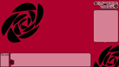 LIVESTREAM BACKGROUND【ROSE BLACK】7 Color + Alpha Channel Set 0