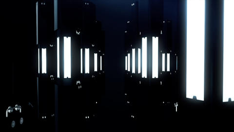 Digital Pillars Landscape CG Background Animation