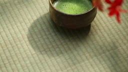 Japanese confectionery and Matcha green tea Footage