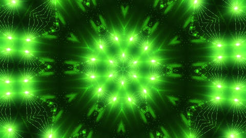 Green laser kaleidoscope Stock Video Footage