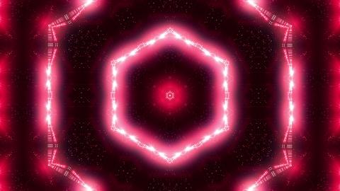 Red laser kaleidoscope Animation
