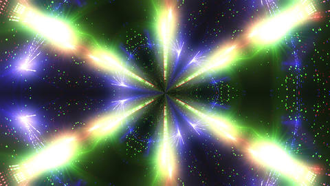 Red Green Blue laser kaleidoscope Animation