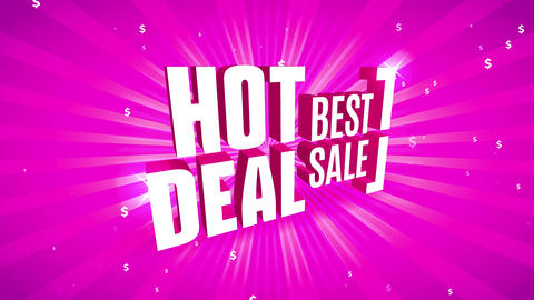 excellent agreement hot deal ad with 3d offset fixed in perpendicular path over outstanding color Animation