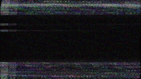 No signal old vintage TV. Static color noise. Glitch Error Video Damage. Bad Animation