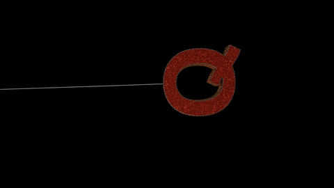 3d animated dynamic glitter christmas ornament text typography loop with alpha red goldQ Animation