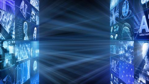 Digital Network Technology AI artificial intelligence data concepts Background D Tate D1 3x3 Fix CG動画
