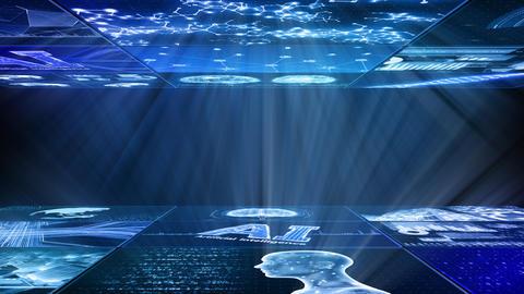 Digital Network Technology AI artificial intelligence data concepts Background D Yoko C1 3x3 Fix Animation