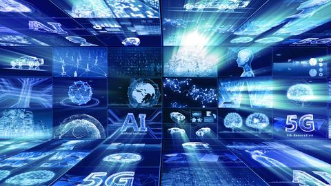 Digital Network Technology AI artificial intelligence data concepts Background D Yoko E1 3x3 Move Animation