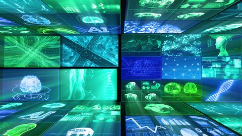Digital Network Technology AI artificial intelligence data concepts Background D Yoko E1 Mix Fix Animation