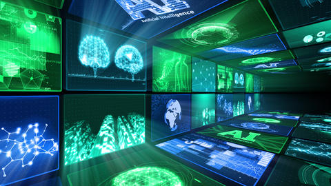 Digital Network Technology AI artificial intelligence data concepts Background D Yo-Ta B1 2x2 Move Animation