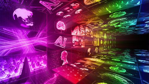 Digital Network Technology AI artificial intelligence data concepts Background D Yo-Ta B1 3x3 CG動画