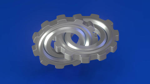 The rotation of the two gears CG動画
