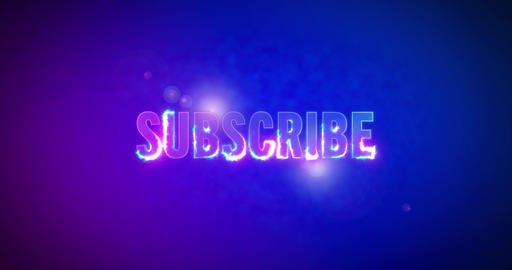 Subscribe. Electric lightning words. Logotype Animation