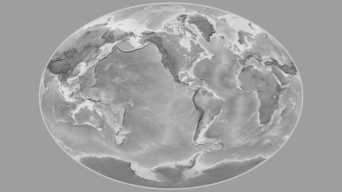 Djibouti - hub of the world. Grayscale Animation