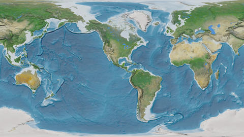 Dominican Republic - hub of the world. Satellite Animation