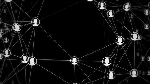 Dynamic social network contact icons looping background Animation