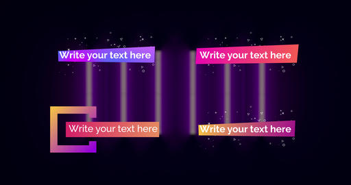 Gradient Lower Thirds Pack Plantilla de After Effects