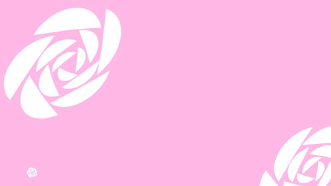 LIVESTREAM BACKGROUND【ROSE WHITE OFF FRAME】7 Color + Alpha Channel Set 1