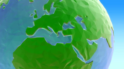 Rotating 3d low poly globe loop 2 Videos animados