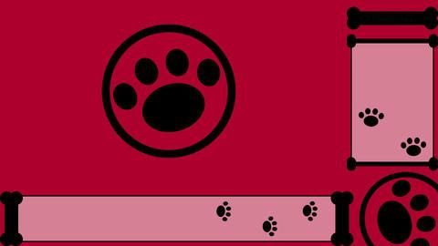 LIVESTREAM BACKGROUND【PAD(bone) BLACK】7 Color + Alpha Channel Set 0