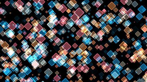 Pulsating multi-colored squares CG動画