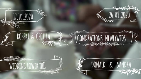 Wedding Lower Thirds Plantillas de Motion Graphics