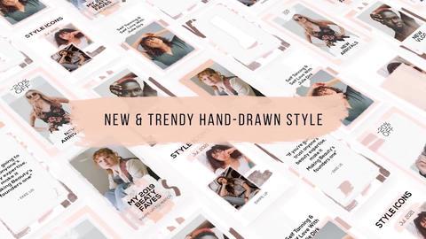 Hand Drawn Instagram Stories Premiere Pro Template