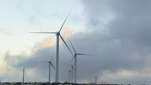 Timelapse Of Windfarm Swallowed By Clouds, Lanzarote Acción en vivo