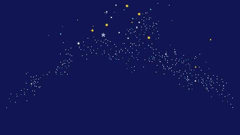 星空と流れ星 動画 CG動画