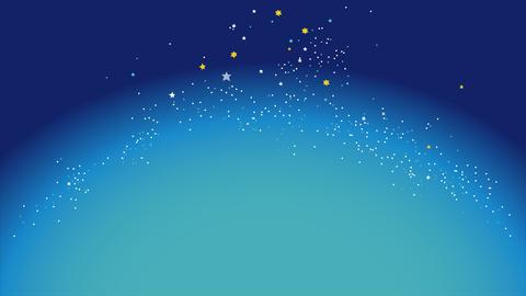 星空と流れ星の動画 CG動画