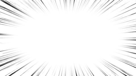 漫画の集中線 効果アニメーション CG動画