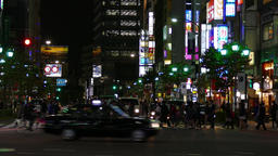 Night view of traffic in Roppongi district, Tokyo, Japan Footage